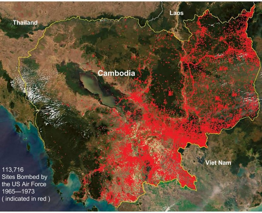 US bombing in Cambodia